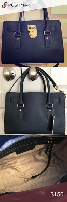 MICHAEL KORS HAMILTON LARGE SATCHEL Authentic Michael KORS Hamilton large Satchel is new with tags/color is Royal Blue, leather exterior, signature satin interior, interior zip with 3pockets. Bag is clean and from a smoke free household. Bag has lock but *No Key*-have been lost. Michael Kors Bags Satchels
