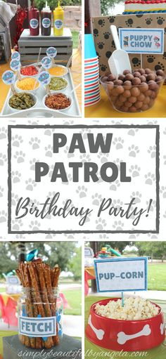 A Paw Patrol Birthday Party Hello everyone! This past weekend we celebrated Tristan's FOURTH birthday! Holy cow--I have a four year old. It's still sinking in. When I asked Tristan what kind of party he wanted, with no 3 Year Old Birthday Party Boy, Puppy Birthday Parties, Fourth Birthday, Birthday Party Themes, Birthday Ideas, Card Birthday, Puppy Party, Birthday Gifts, Paw Payrol Birthday