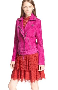 Lanvin Suede Moto Jacket available at #Nordstrom