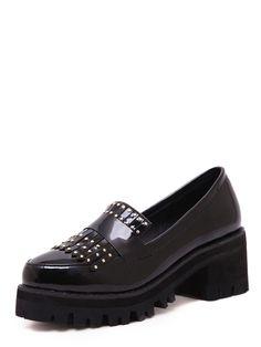 Чёрные туфли на платформе