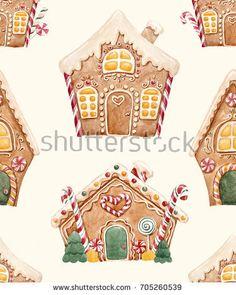 Картинки по запросу gingerbread house wallpaper