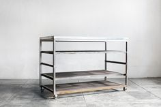 Custom-Made Steel Rolling Rack with Expanding by RehabVintageLA