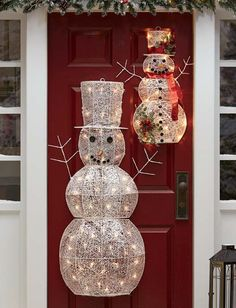 1000 images about outdoor christmas decorations on for Outdoor christmas wall decorations