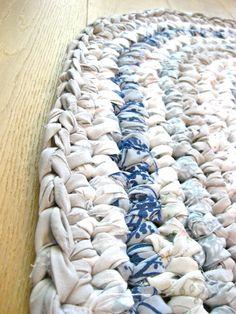 Blue & White Rag Rug