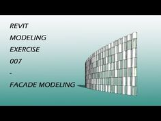 This tutorial will show you how to model a curtain wall panel, which is a half cylinder with a parametric opening. It will also show you how to use Dynamo to. Facade, Modeling, Exercise, Make It Yourself, Wall, Youtube, Ejercicio, Modeling Photography, Facades