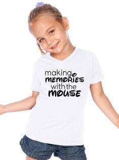 """Disney """"Making Memories With the Mouse"""" - Kids Toddler Teen Short Sleeve Shirt"""