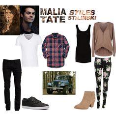 """Stiles and Malia (teen wolf)"" by mercedezmcfadden on Polyvore"