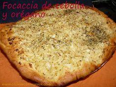 Cocinar con MyCook: FOCACCIA DE CEBOLLA Y ORÉGANO