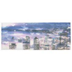 Blue and Purple Seattle Bokeh Hearts Billfold Wallet