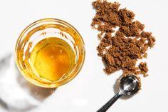 DIY Natural Beauty Treatments - sugar lip scrub, greek yogurt face mask, coffee body scrub, avocado banana hair mask, dry shampoo, and sea salt hair spray