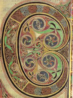 Lindisfarne Gospels-St Luke's Initial Page - spiral details