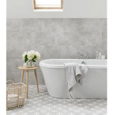 Floor Tile Laura Ashley The Heritage Collection Wicker Dove Grey 331mm x 331mm LA51997 9 Tile Per Pack