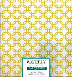 Fat Quarter - Links Sunshine/White, Yellow/White by LaCreekBlue on Etsy