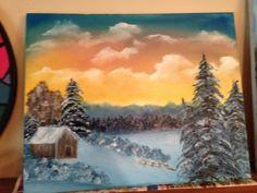 January Bob Ross painting