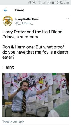 Harry Potter and the Half Blood Prince Harry Potter Jokes, Harry Potter Fandom, Harry Potter World, Saga, Yer A Wizard Harry, Fandoms, Harry Potter Universal, Mischief Managed, Humor