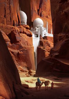 ArtStation - Red Canyon, by Ruxing Gao