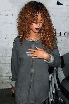 Rihanna at a nightclub in Los Angeles. (20th August 2015)