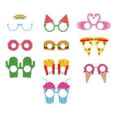 Crazy Paper Glasses - Set of 10-product