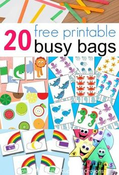 20 FREE Printable Busy Bags