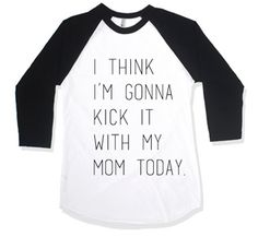 Kick it with my mom baseball tee (pre-order) Baby Boy Fashion, Kids Fashion, Toddler Boys, Baby Kids, Baby Baby, Baby Boy Outfits, Kids Outfits, The Maxx, My Baby Girl
