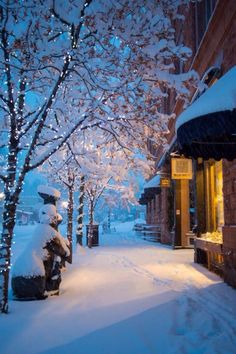 Aspen, Colorado in Winter. I love Aspen. Winter Szenen, Winter Love, Winter Magic, Winter Night, Cold Night, Winter Season, Ville New York, Snow Scenes, Winter Pictures