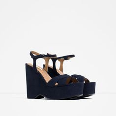 Image 3 of WEDGES WITH ANKLE STRAP from Zara