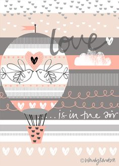 Ab auf die Couch mit 'love is in the air' by wendy kendall.