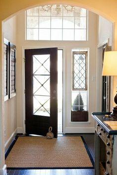 Gorgeous entryway with vintage windows