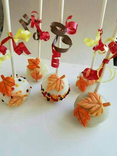 Check out this item in my Etsy shop https://www.etsy.com/listing/468752304/fall-cake-pops-thanksgiving-cake-pops