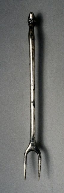 Fork with Animal Hoof Finial (Ornament), Byzantium/Syria, early Byzantine period, century Medieval World, Medieval Times, Medieval Art, Varangian Guard, Doge Of Venice, Culture Of Italy, Villa, Early Middle Ages, Cleveland Museum Of Art