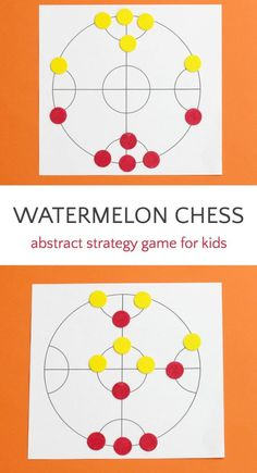 Bust Boredom and Get Smart with Watermelon Chess Fun abstract strategy game for kids that helps with math and logic skills. Activity Games, Math Games, Games To Play, Activities For Kids, Therapy Activities, Math Math, Logic Games For Kids, School Games For Kids, Math Board Games