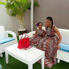 Mother and Daughter African dress, mom and daughter, african daughter and mom African Print Dress, African ankara Dress Ankara Styles For Kids, African Dresses For Kids, African Maxi Dresses, Latest African Fashion Dresses, Ankara Dress, African Attire, Ankara Fashion, Fashion Outfits, Mother Daughter Matching Outfits