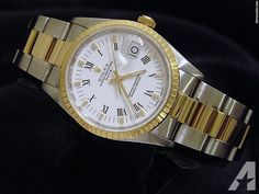 for sale, The original Rolex stainless steel case with solid yellow gold engine-turned. Americanlisted has classifieds in Keller, Texas for watches and jewerly High End Watches, Rolex Date, Rolex Watches For Men, Stainless Steel Case, Dating, Gold, Accessories, Jewelry, Mens Watches Rolex