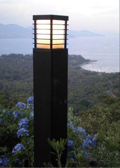 Halmstad Large Bollard Black by Norlys @peterreidlighting #outdoorlighting