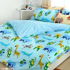 床包組-單人 【快樂動物園】含一件枕套, 高透氣棉 ,Artis台灣製內容件數:薄床包x1+美式枕套x1 材質:20%棉80%極細纖維 產地:台灣 尺寸:單人