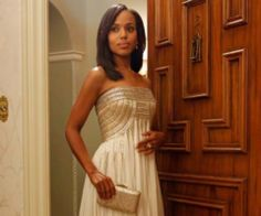 "TV show, Kerry Washington, gown, scandal, dress, Olivia pope ""Tagged with jean fares couture"""