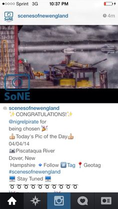 ✨CONGRATULATIONS!✨ @nigrelpirate for  being chosen  Today's Pic of the Day 04/04/14 Piscataqua River Dover, New  Hampshire   Follow #⃣Tag Geotag #scenesofnewengland  Stay Tuned  ➰➰➰➰➰➰➰➰➰➰ Fun times ahead
