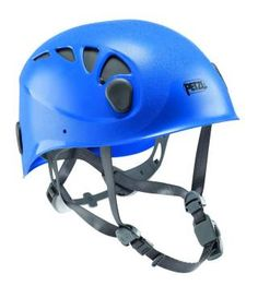Petzl Elios  New price 57,-USD Very versatile and durable, the ELIOS helmet is suitable for climbing, mountaineering, caving, via ferrata, canyoning... It offers effective impact protection with its ABS shell and polystyrene foam liner. Fully adjustable and adapts to all head shapes: The sliding ventilation shutters allow the user to open or close them depending on conditions.