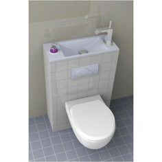 1000 images about wc on pinterest merlin ikea and ps - Toilette avec lave main integre castorama ...