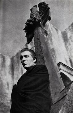 Christopher Lee as Dracula in Hammer's Dracula (1958), directed by Terence Fisher.
