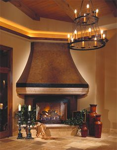1000 images about one of a kind fireplaces on pinterest Luxury fireplaces luxury homes