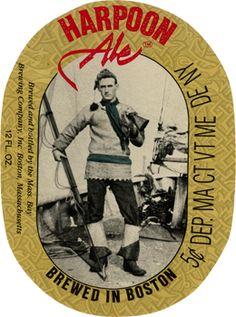 Original Harpoon Ale label