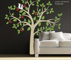 Apple Tree in Blossom wall decal. $168.00, via Etsy.