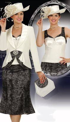 $214.90  New 3pc Champagne 2011 Fall Mother Bride Off-White/Black   Size: 24  Colors: Off-White With Black  ( Satin Piped Collar Compliments The Two Tone Jacket Cami And Skirt, 3pc Silk Look Suit )