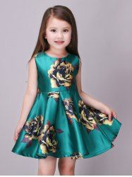 Shop Little Girls Sleeveless Yellow Rose Print Green Princess Dress - up to off, discover more dicountGirls' Casual Dresses online now. African Dresses For Kids, Little Girl Dresses, Girls Dresses, Flower Girl Dresses, Kids Costumes Girls, Kids Outfits, Princes Dress, Summer Dresses Online, Frock Fashion