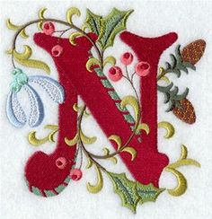 Machine Embroidery Designs at Embroidery Library! - Jacobean Christmas Alphabet