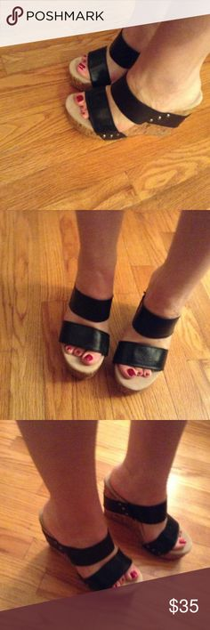 Very Volatile Black Wedge Sandals Size8 LN Line new Very Volatile black wedge sandals size 8. B2 Very Volatile Shoes Wedges