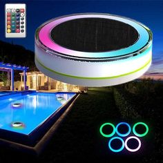 Remote Control Solar Power LED Colorful Swimming Pool Light Garden Waterproof Floating Lamp Solar Power LED Colorful Swimming Pool Light Garden Fountain Waterproof Floating LampSolar LED floating light is a novel green energy LED lighting that focus on energy saving, environmental protection, and landscaping.The light can be controled LED garden's on/off and colors by remote control.The solar panel receives solar energy for recharging under the sunlight, and automatically lights at night.It… Solar Pool Lights, Floating Pool Lights, Swimming Pool Lights, Solar Led, Belize, Costa Rica, Congo, Solar Energy, Solar Power