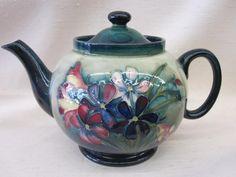 Teapot by W. Moorcroft, c. 1947-1957.