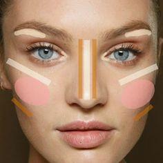 .@soinlovebeauty   Meninas onde usar blush, iluminador e bronzer. Olhem essa dicaa, super fácil ...